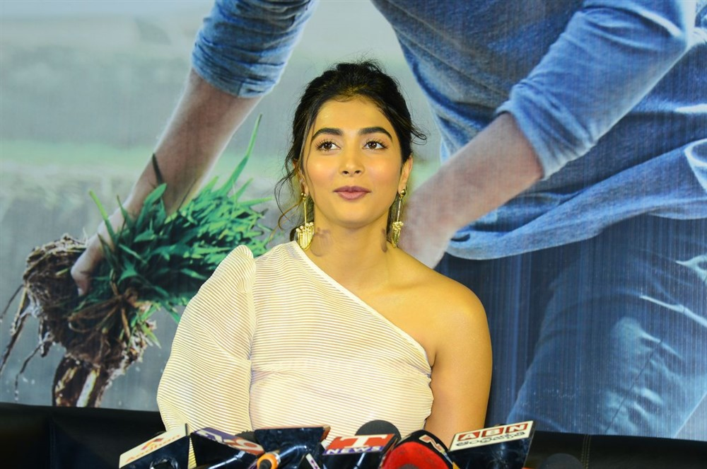 Actress Pooja Hegde @ Maharshi Movie Success Celebrations Stills