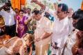 MK Alagiri @ Mahat Raghavendra Prachi Mishra Wedding Stills