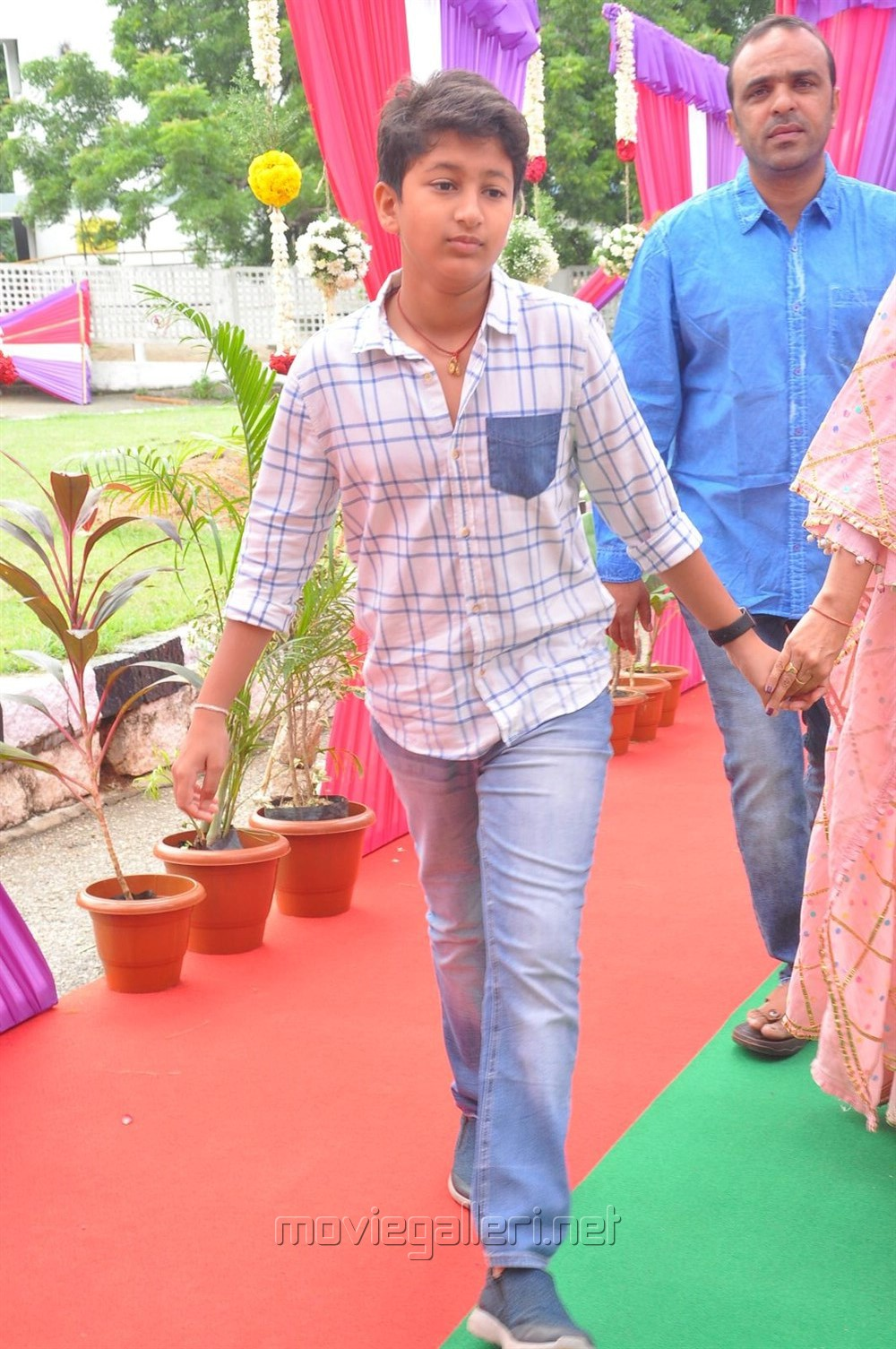 Gautham @ Mahesh Babu Vamsi Paidipally Movie Opening Photos