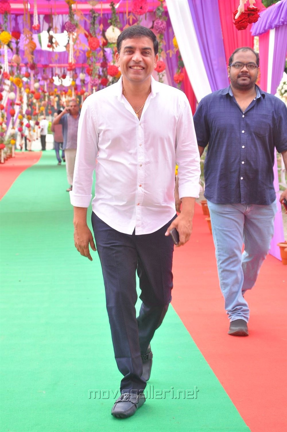 Producer Dil Raju @ Mahesh Babu Vamsi Paidipally Movie Opening Photos