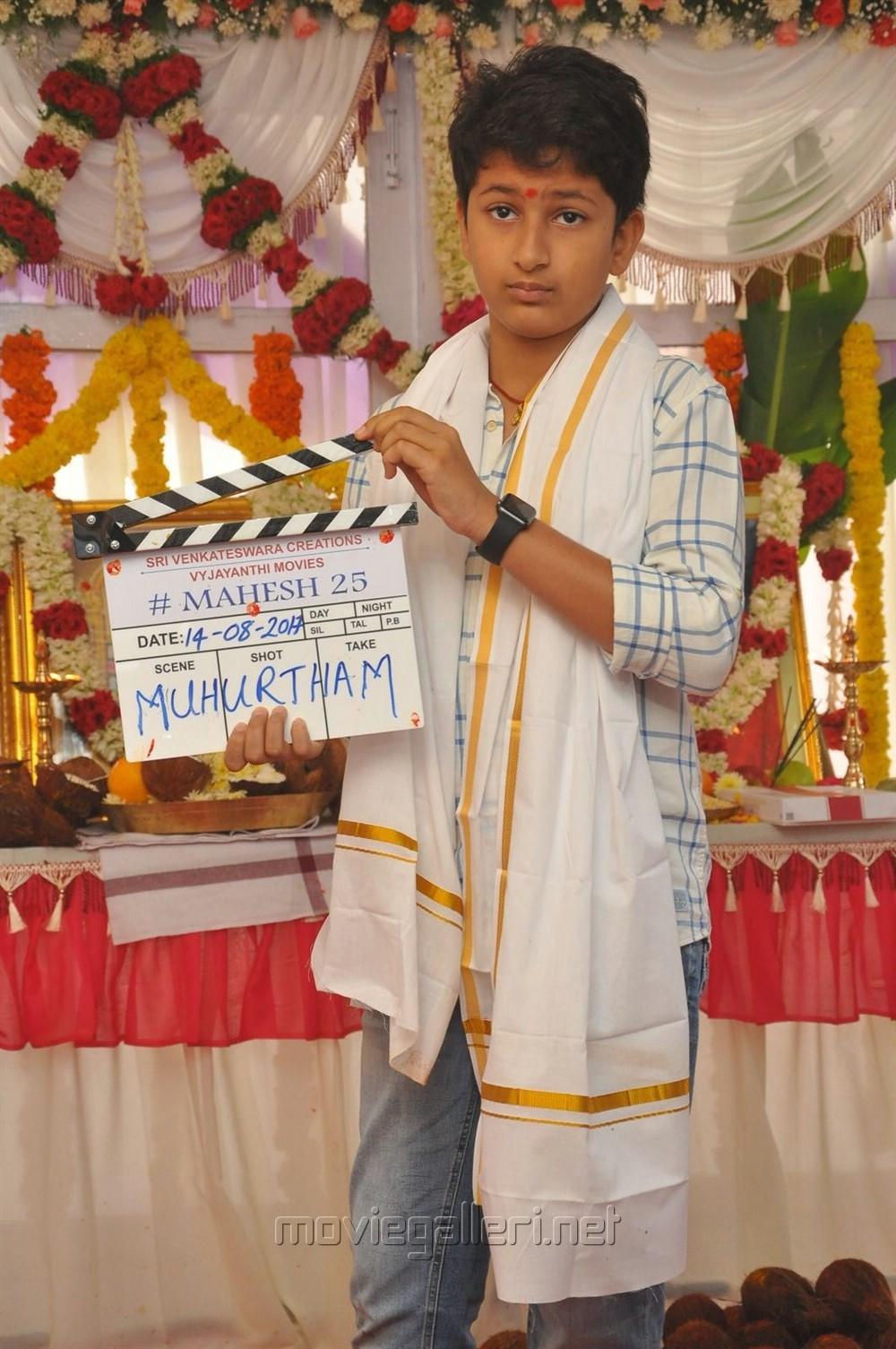 Mahesh Babu Vamsi Paidipally Movie Opening Photos | New Movie Posters
