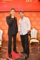 Mahesh Babu poses with his wax statue from Madame Tussauds at AMB Theatre Hyderabad Photos