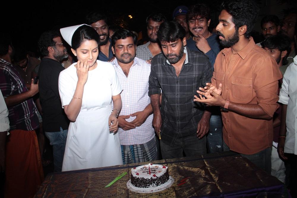 Actress Mahima Nambiar Birthday Celebration @ Ayngaran Movie Sets