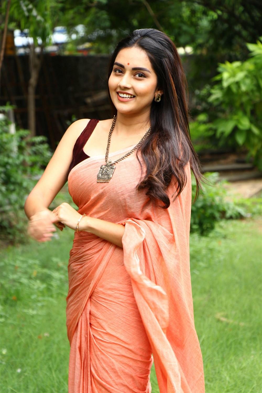 Actress Mahima Nambiar Saree Pics @ Magamuni Press Meet