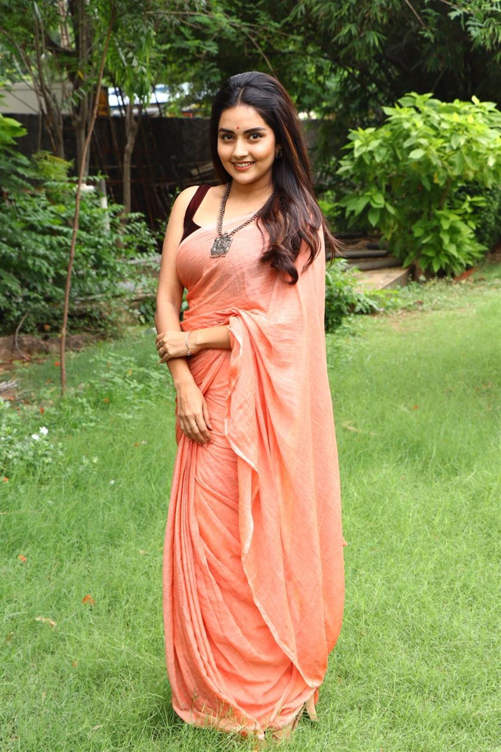 Actress Mahima Nambiar Saree Pics @ Magamuni Movie Press Meet
