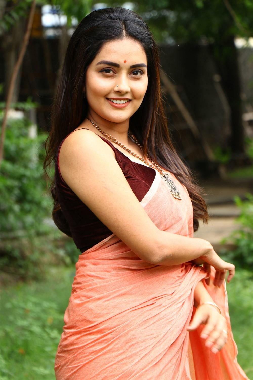 Magamuni Movie Actress Mahima Nambiar in Saree Pics