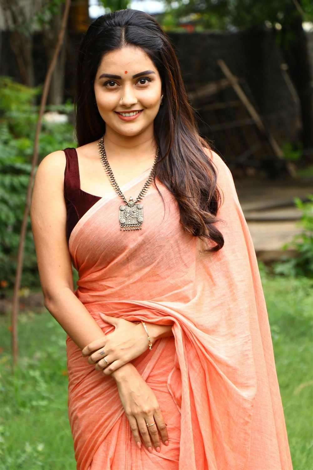 Actress Mahima Nambiar Saree Pics @ Magamuni Press Meet