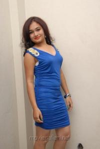 Telugu Actress Maithili Hot Stills in Blue Dress