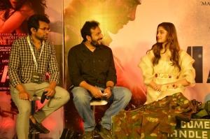 Sashi Kiran Tikka, Saiee Manjrekar @ Major Movie Teaser Launch Stills