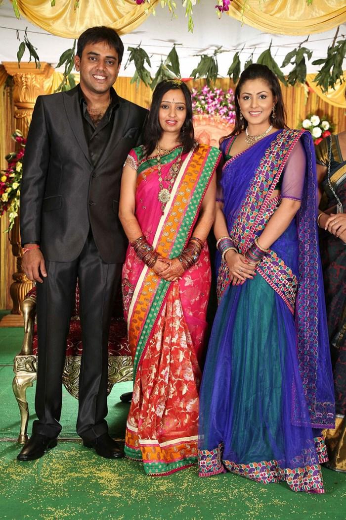 Actress Mashu Shalini At Malavika Krishna Chaitanya Wedding Reception Photos
