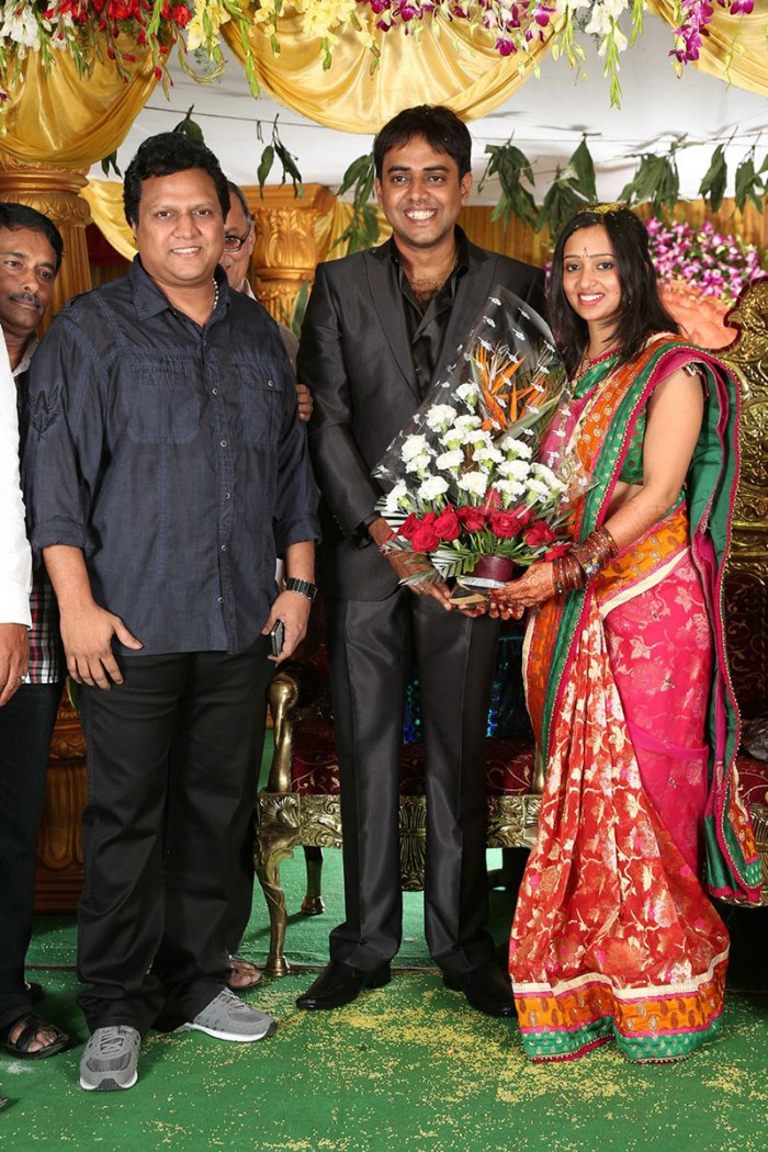 Mani Sharma At Malavika Krishna Chaitanya Wedding Reception Photos
