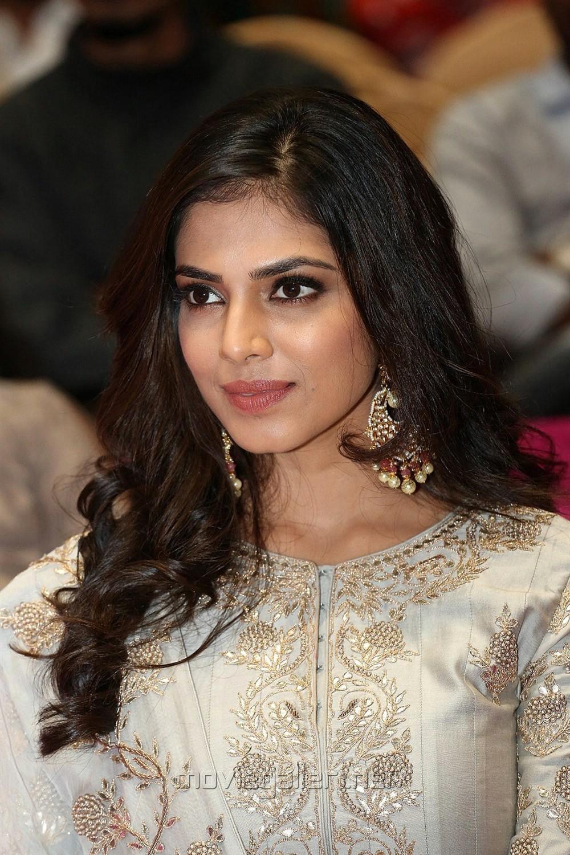 Actress Malavika Mohanan HD Photos @ Petta Pre Release Function