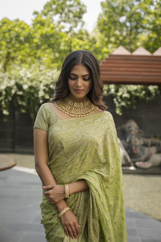 Actress Malavika Mohanan in Saree Photos