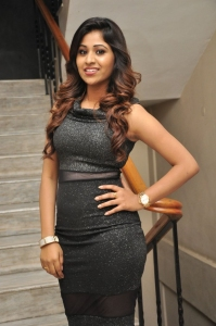 Actress Manali Rathod Hot Black Dress Images