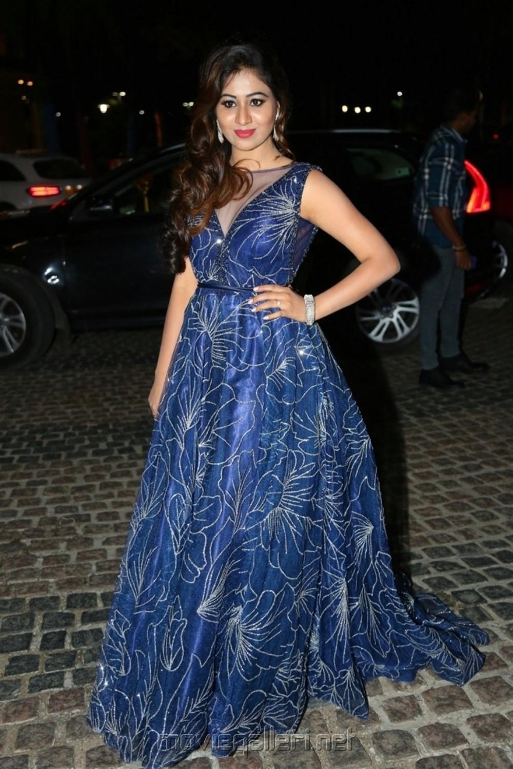 Actress Manali Rathod Pics @ South Filmfare Awards 2018