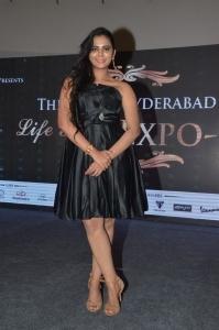 Actress Manasa Himavarsha New Pics @ Great Hyderabad Lifestyle Expo 2016