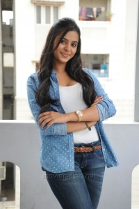Manasa Himavarsha Hot Photos in White Top & Blue Jeans