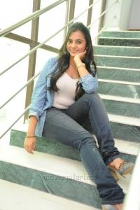 Telugu Actress Manasa Hot Photos in White Top & Blue Jeans