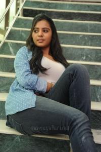 Actress Manasa Hot Photos in White Top & Blue Jeans