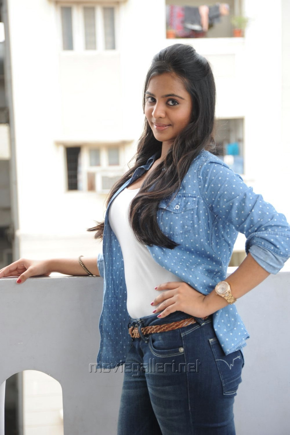 picture 552873 manasa himavarsha hot photos in white top