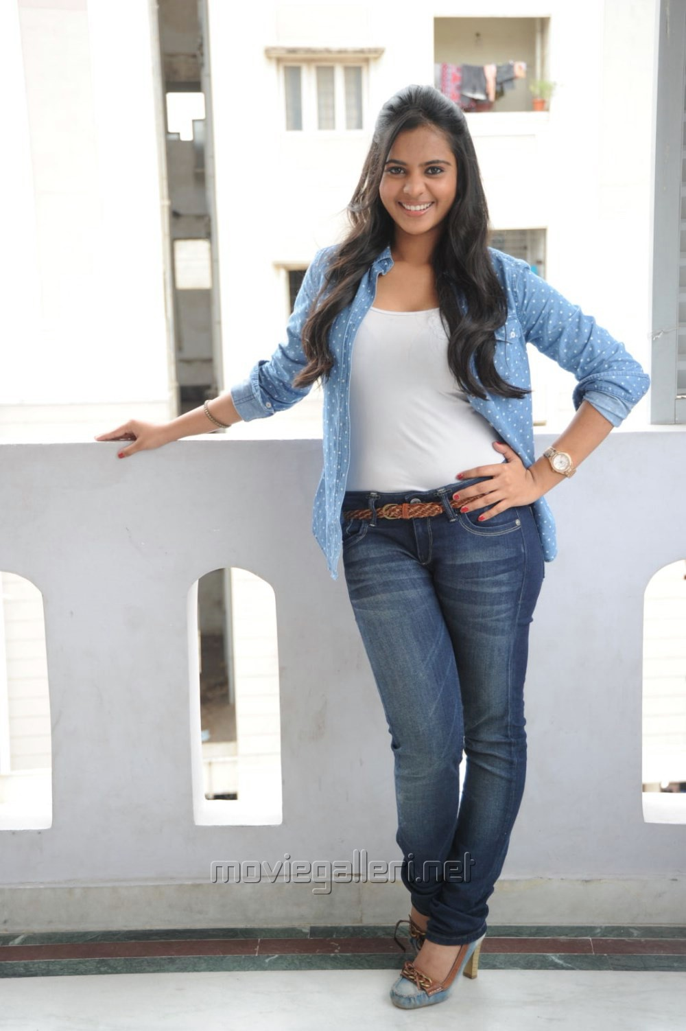 Picture 552920 | Telugu Actress Manasa Hot Photos in White Top