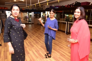 Nita with Actor Suhasini & Saradha at Leap Wellness studio at Park Hyatt Chennai