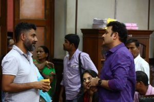 Director I. Ahmed @ Manithan Movie Working Stills