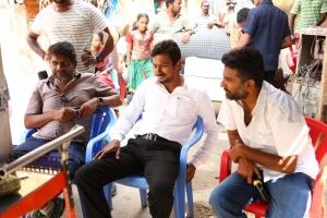 Madhi, Udhayanidhi, Ahmed @ Manithan Movie Working Stills