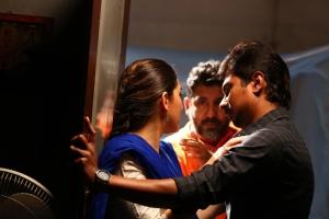Hansika, I. Ahmed, Udhayanidhi Stalin @ Manithan Movie Working Stills