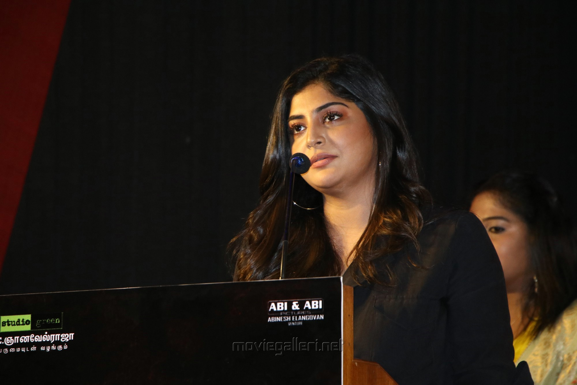 Actress Manjima Mohan New Stills HD @ Devarattam Movie Press Meet