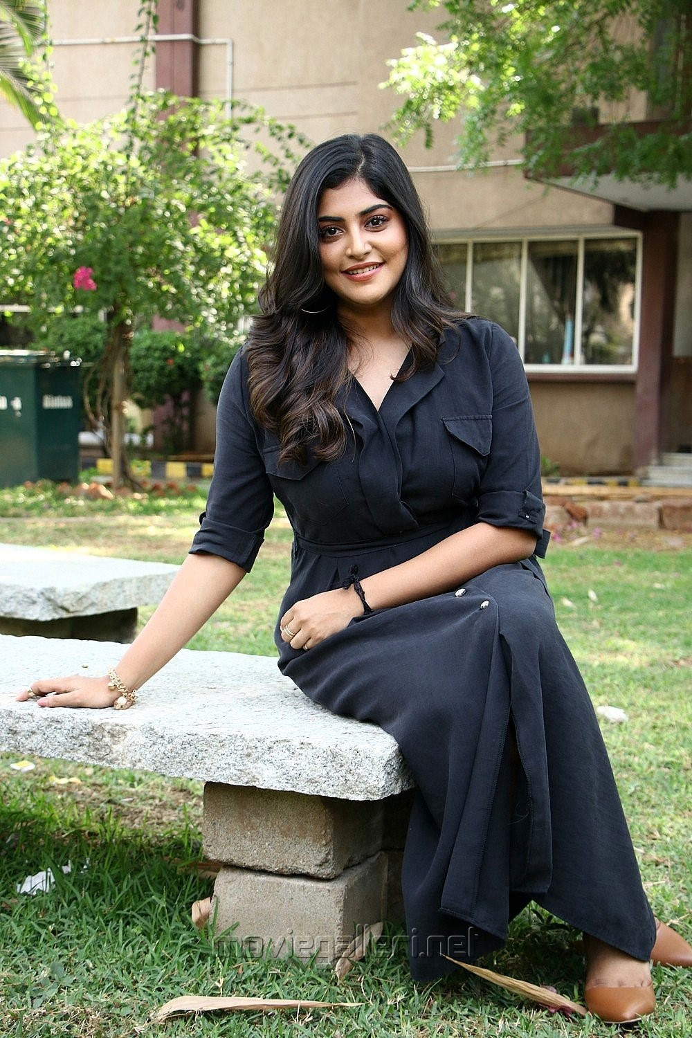 Actress Manjima Mohan New Stills HD @ Thevarattam Movie Press Meet