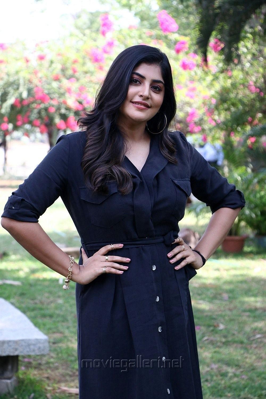 Actress Manjima Mohan New Stills HD @ Devarattam Press Meet