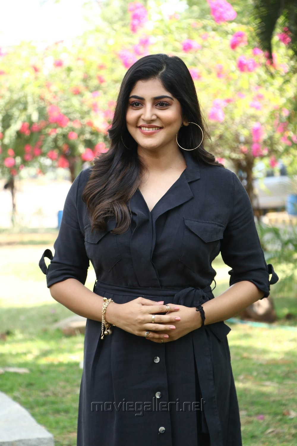 Actress Manjima Mohan New Stills HD @ Devarattam Press Meet