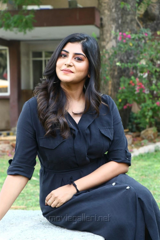 Actress Manjima Mohan New Stills HD @ Thevarattam Movie Press Meet