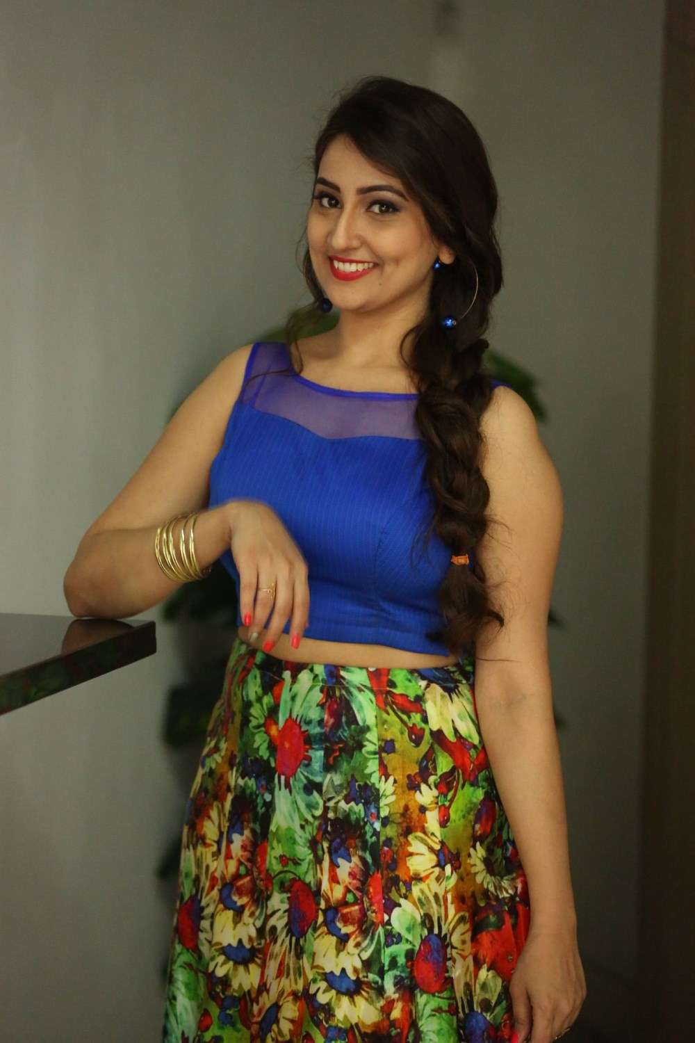 Anchor Manjusha Pictures @ Bengal Tiger Success Meet