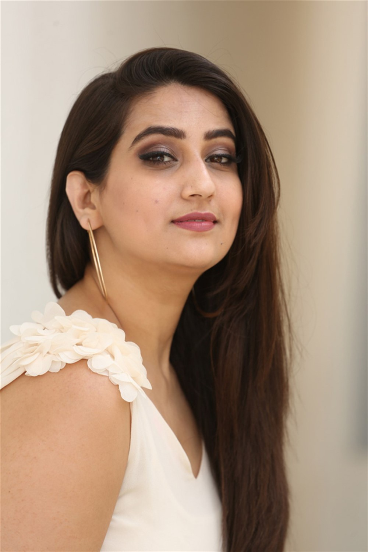 Anchor Manjusha Stills @ Falaknuma Das Trailer Launch