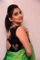 Telugu Anchor Manjusha Green Saree Photos