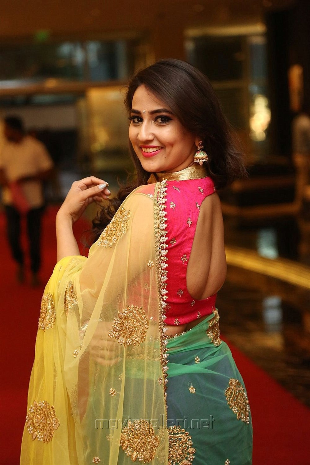 Anchor Manjusha Latest Photos @ Ammamma Gari Illu Pre Release