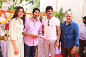 Rakul Preet, Rahul Ravindran, Nagarjuna, Gemini Kiran @ Manmadhudu 2 Movie Opening Stills