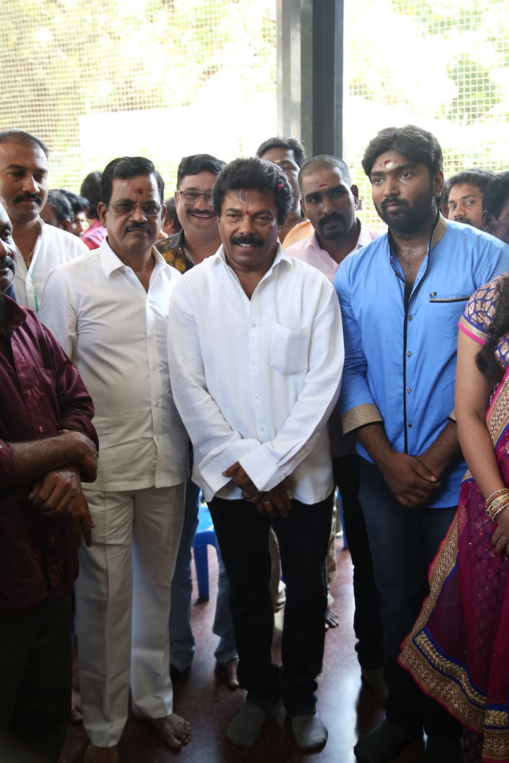 Kalaipuli S Thanu, Jaguar Thangam @ Mannar and Company Movie Pooja Stills