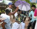 Director Boopathy Pandian, Robo Shankar, Vimal @ Mannar Vagaiyara Movie Working Stills