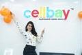 Actress Mannara Chopra launches Xiaomi Mi 10i Smartphone at Cellbay Gachibowli Store Photos
