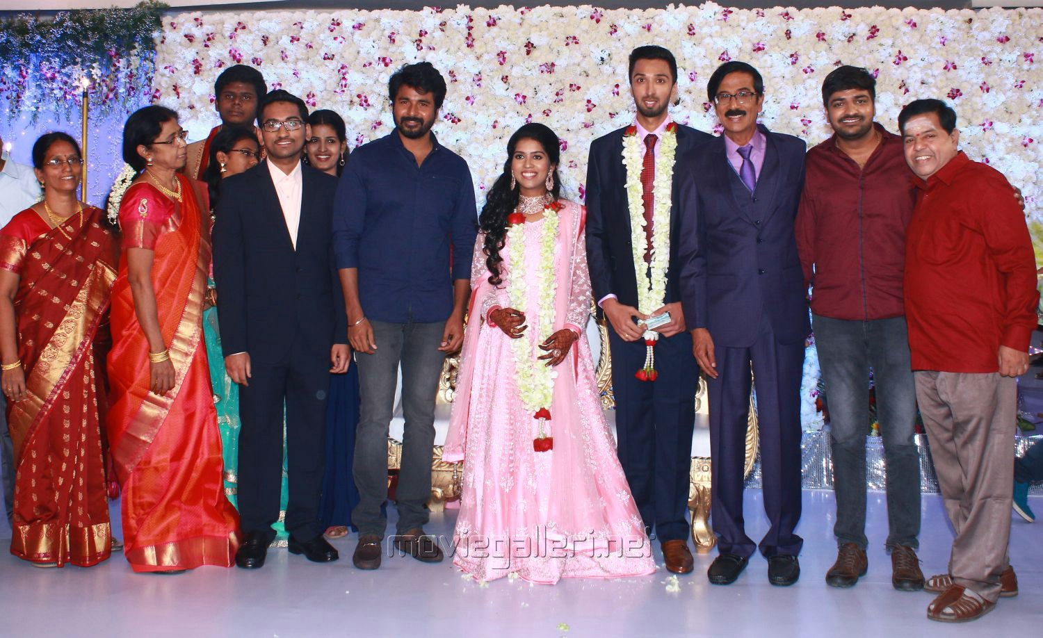 Sivakarthikeyan, Sathish, Swaminathan @ Manobala Son Harish Priya Wedding Reception Stills
