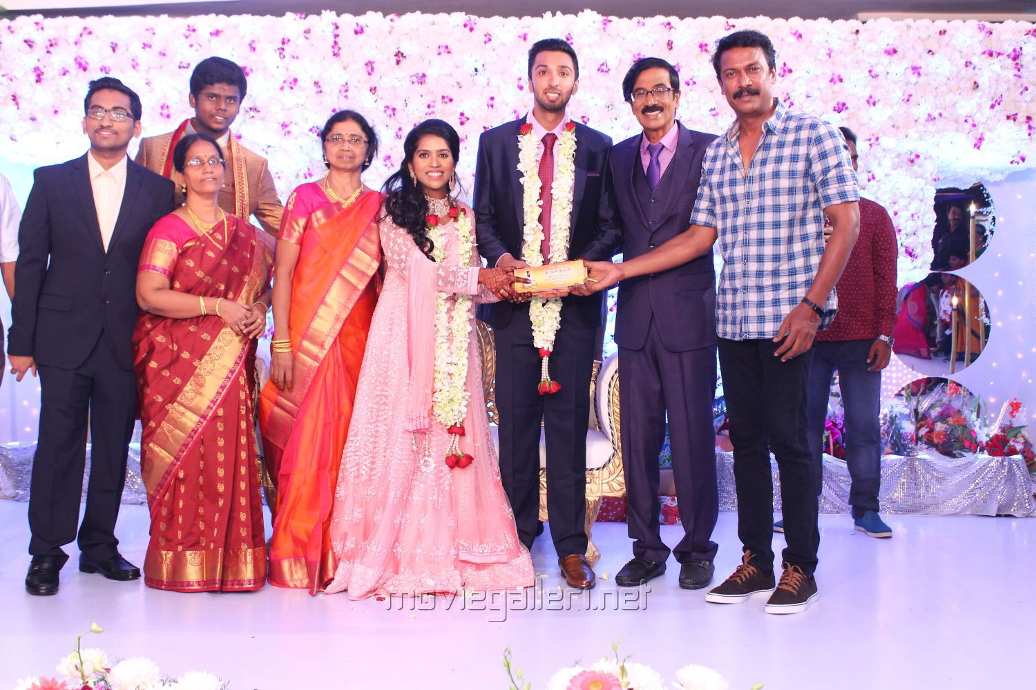 Samuthirakani @ Manobala Son Harish Priya Wedding Reception Stills