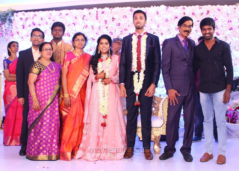 Actor Soori @ Manobala Son Harish Priya Wedding Reception Stills