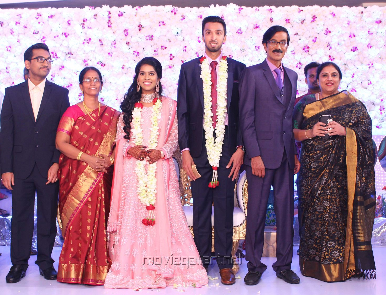 Sripriya @ Manobala Son Harish Priya Wedding Reception Stills