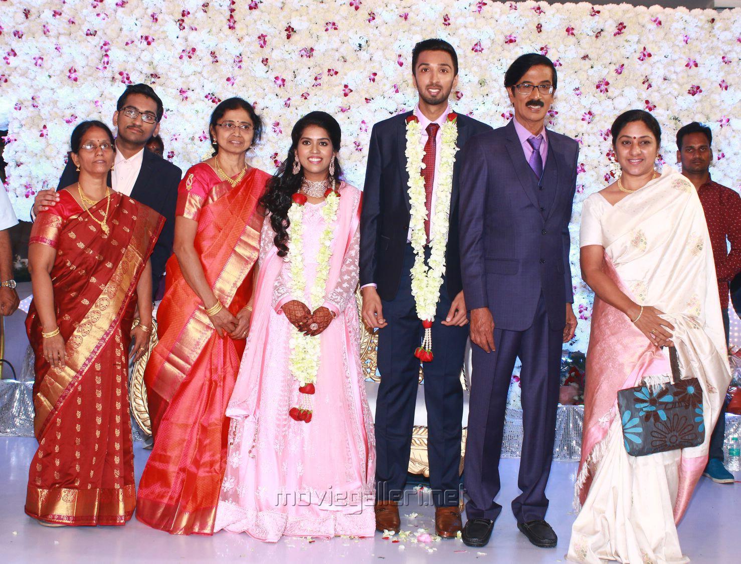 Actress Rohini @ Manobala Son Harish Priya Wedding Reception Stills