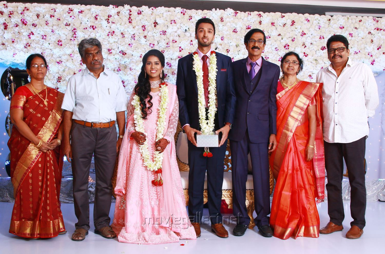 KS Ravikumar @ Manobala Son Harish Priya Wedding Reception Stills