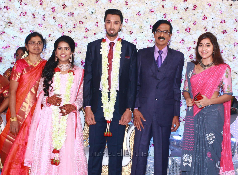 Ramya @ Manobala Son Harish Priya Wedding Reception Stills