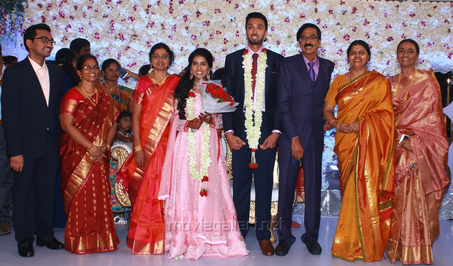 Actress Bhanupriya @ Manobala Son Harish Priya Wedding Reception Stills